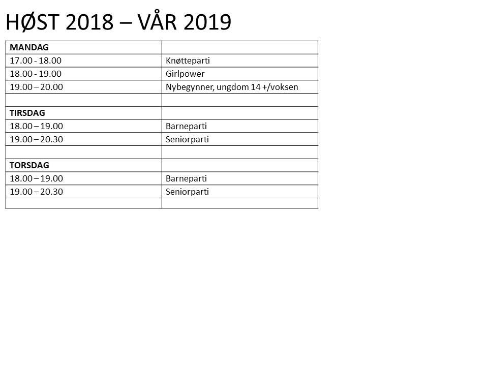 4e936206 Larvik Judoklubb - Treningstider